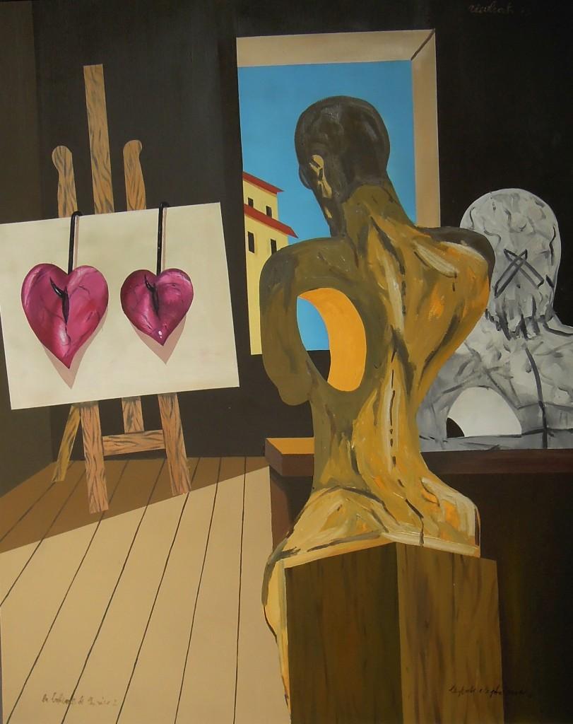 Il Poeta e il Filosofo - Olio su tela - 100 x 81 cm