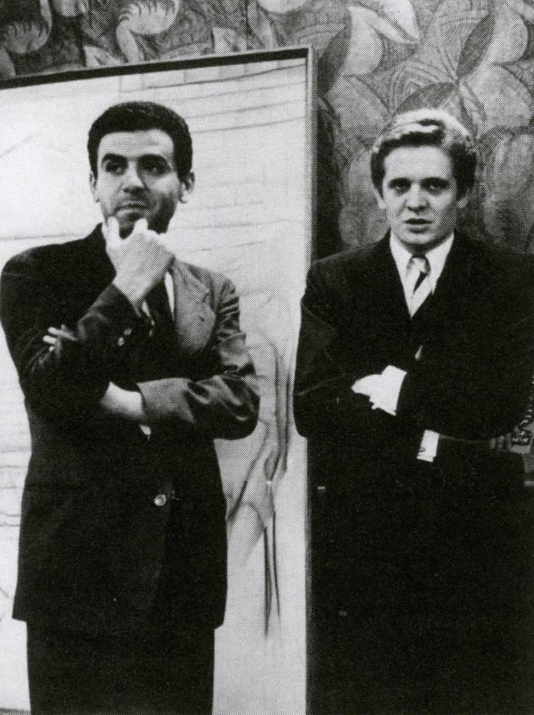 Antonio Recalcati con Tano Festa al premio Apollinaire, Venezia 1963